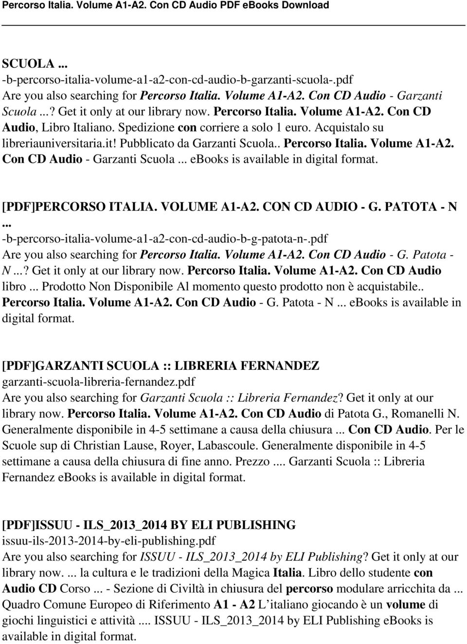 Percorso italia volume a1 a2 con cd audio pdf pdf volume a1 a2 con cd audio garzanti scuola ebooks is fandeluxe