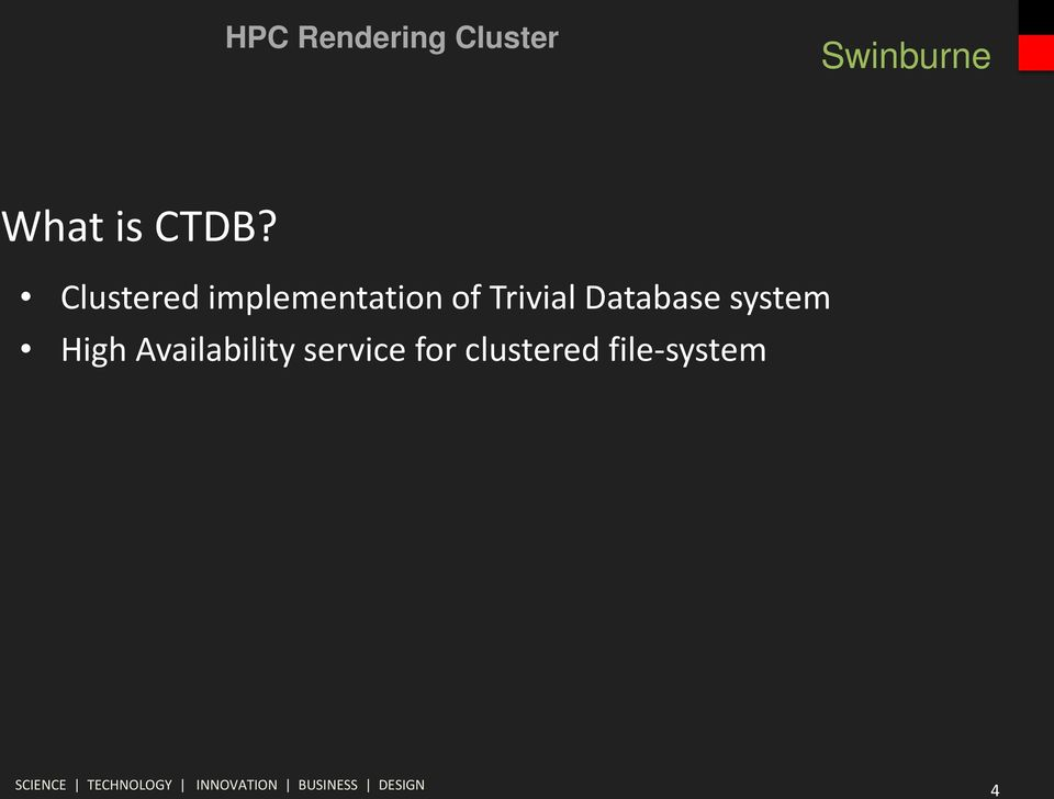 Trivial Database system High