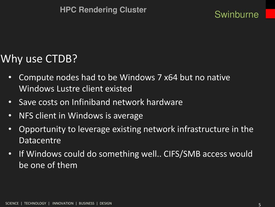 existed Save costs on Infiniband network hardware NFS client in Windows is