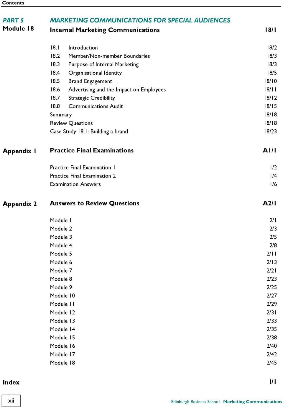 marketing communication exam questions and answers