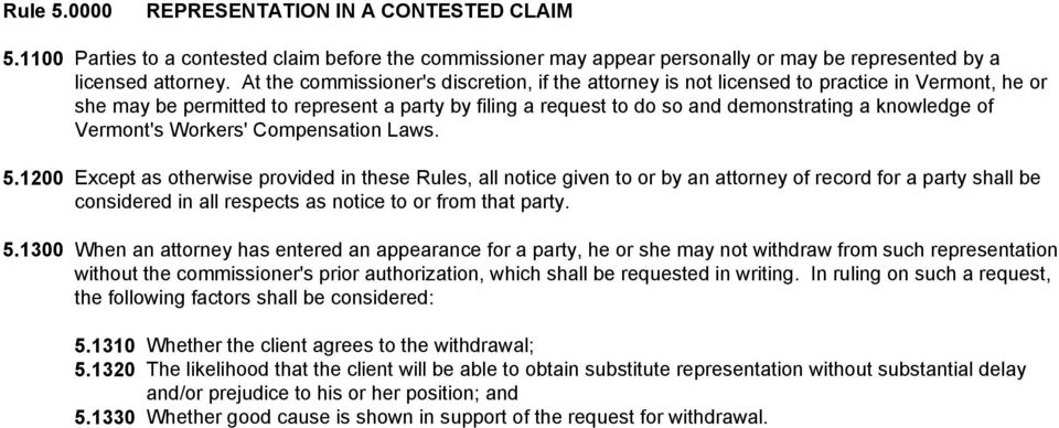Vermont's Workers' Compensation Laws. 5.