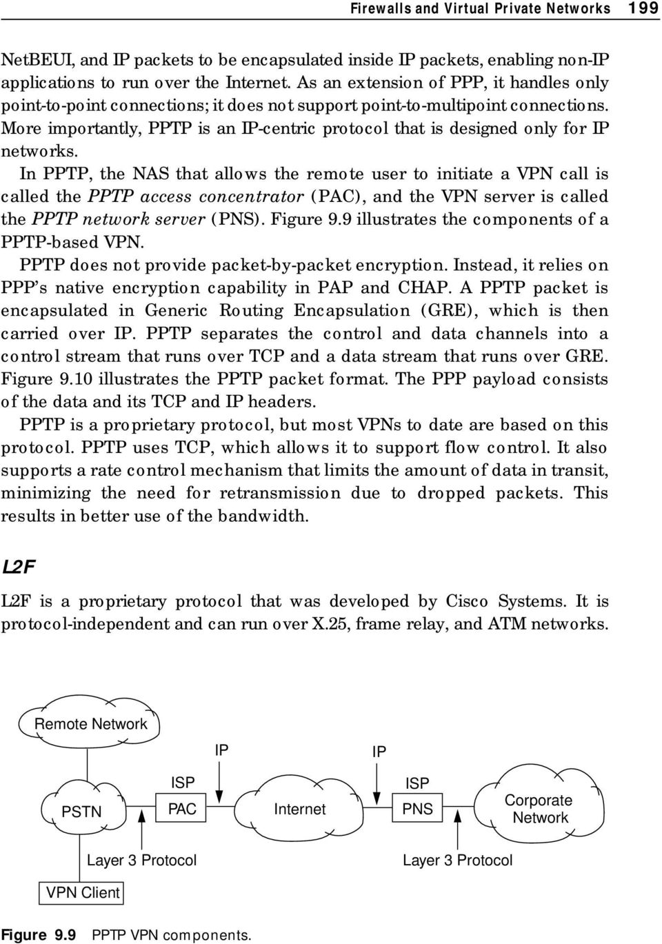 More importantly, PPTP is an IP-centric protocol that is designed only for IP networks.
