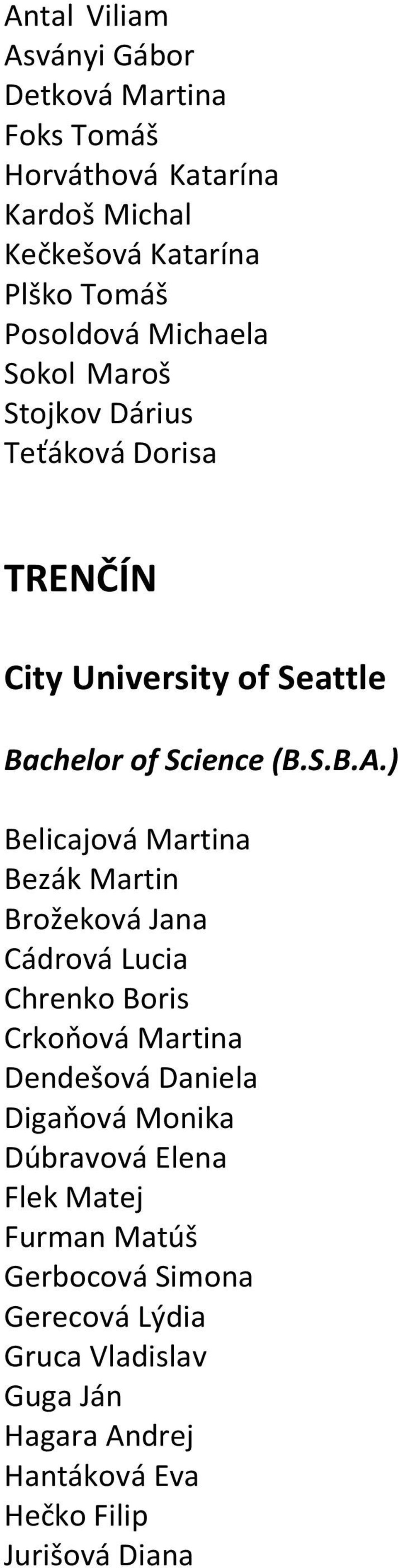 Bratislava City University Of Seattle Bachelor Of Science Images, Photos, Reviews