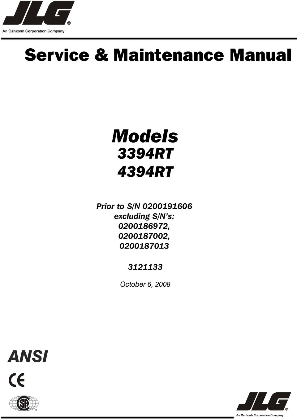 Service maintenance manual models 3394rt 4394rt prior to sn excluding sn s 0200186972 fandeluxe Gallery