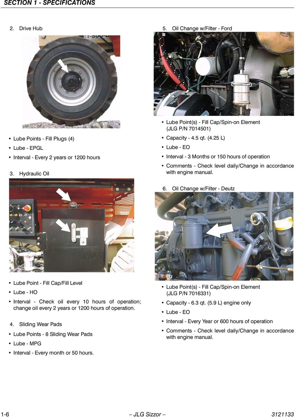 Service Maintenance Manual Models 3394rt 4394rt Prior To S N 200 Eclipse Fuel Filter Location 25 L Lube Eo Interval 3 Months Or 150 Hours Of Operation Comments