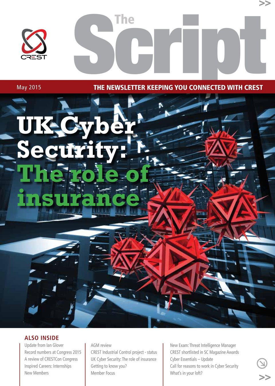 Industrial Control project - status UK Cyber Security: The role of insurance Getting to know you?