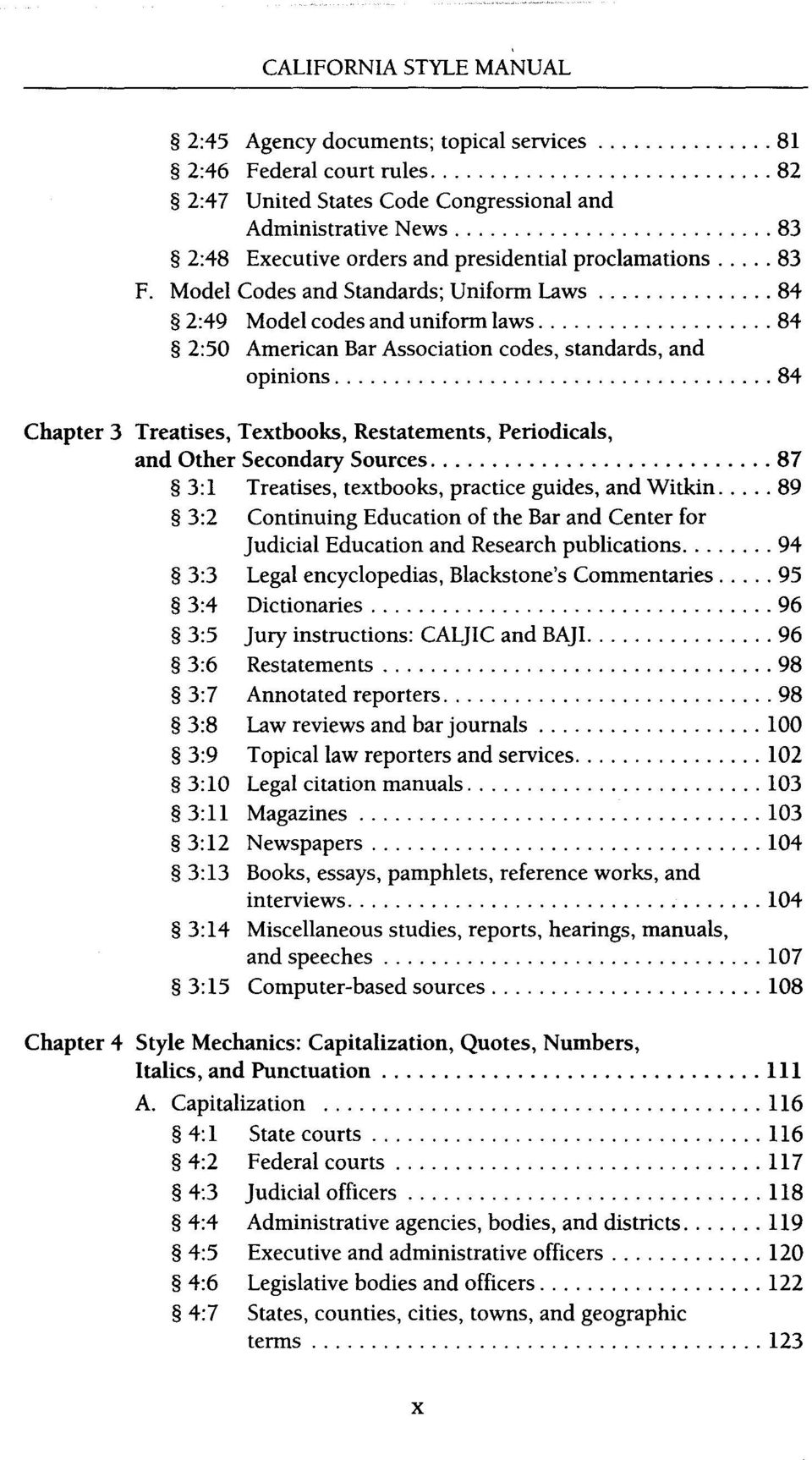 11 TABLE OF CONTENTS 4:8 Proper names, derivative words, numbered items, ...