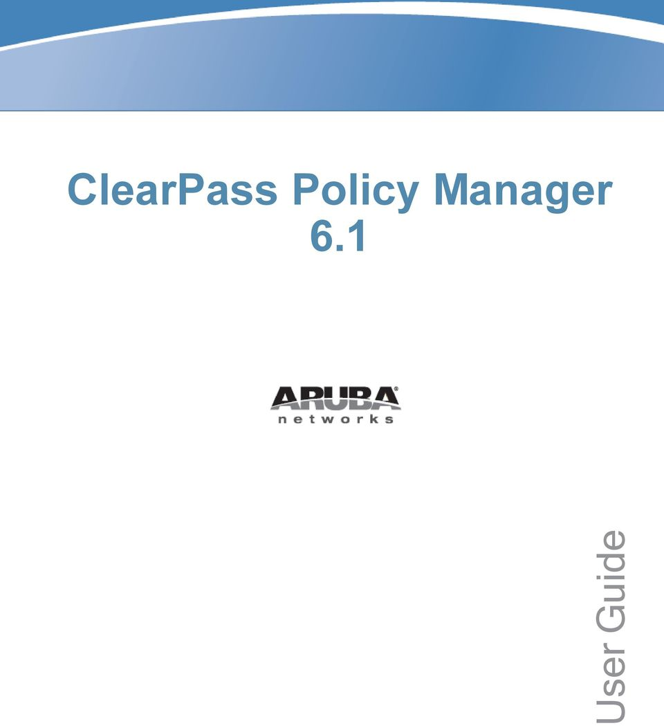 ClearPass Policy Manager PDF