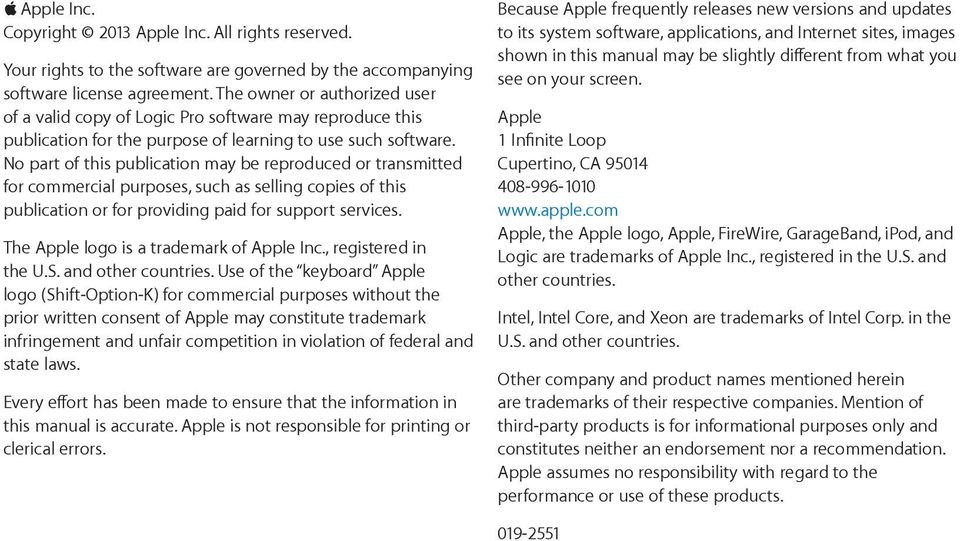 Logic Pro X Control Surfaces Support  For OS X - PDF