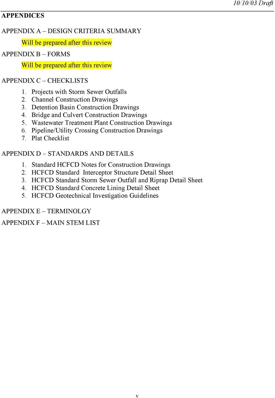 Harris County Flood Control District  Policy, Criteria, and