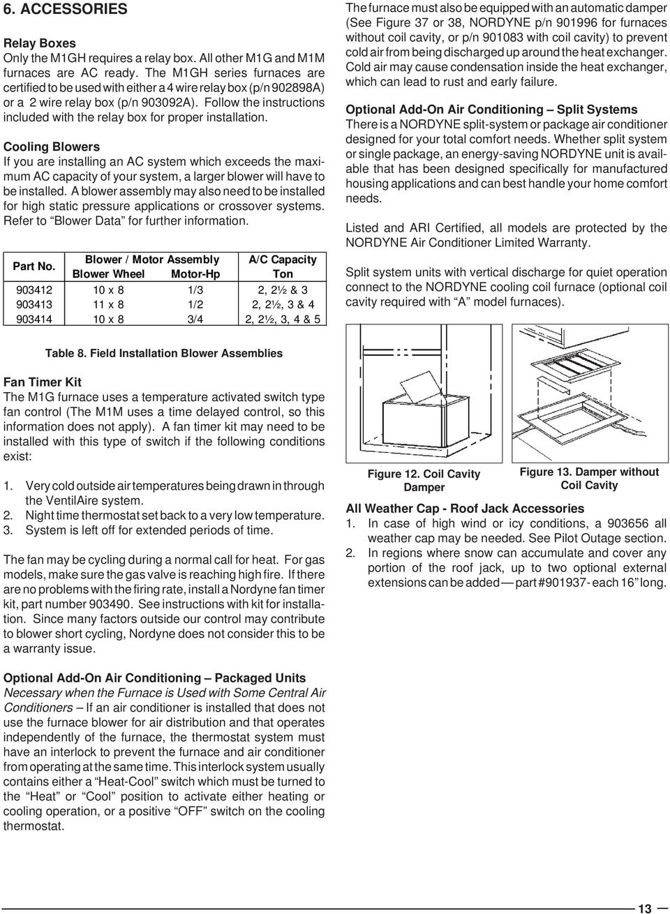 M1 Series M1g And M1m Furnaces Service Manual Pdf Blower Motor Wiring Reversedhvacbm1jpg Follow The Instructions Included With Relay Box For Proper Installation