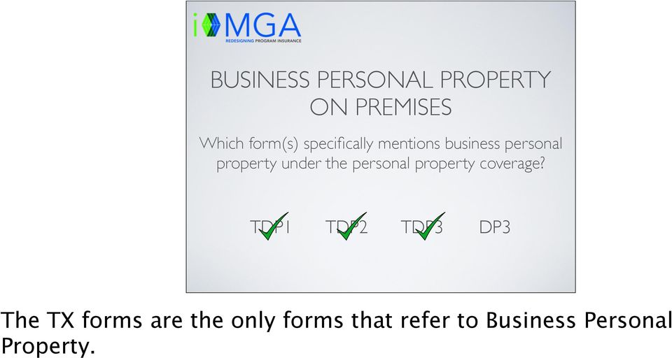 under the personal property coverage?