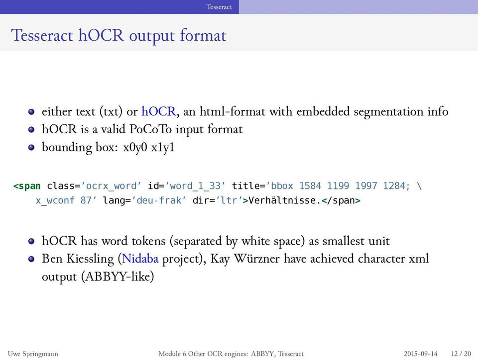 Module 6 Other OCR engines: ABBYY, Tesseract - PDF