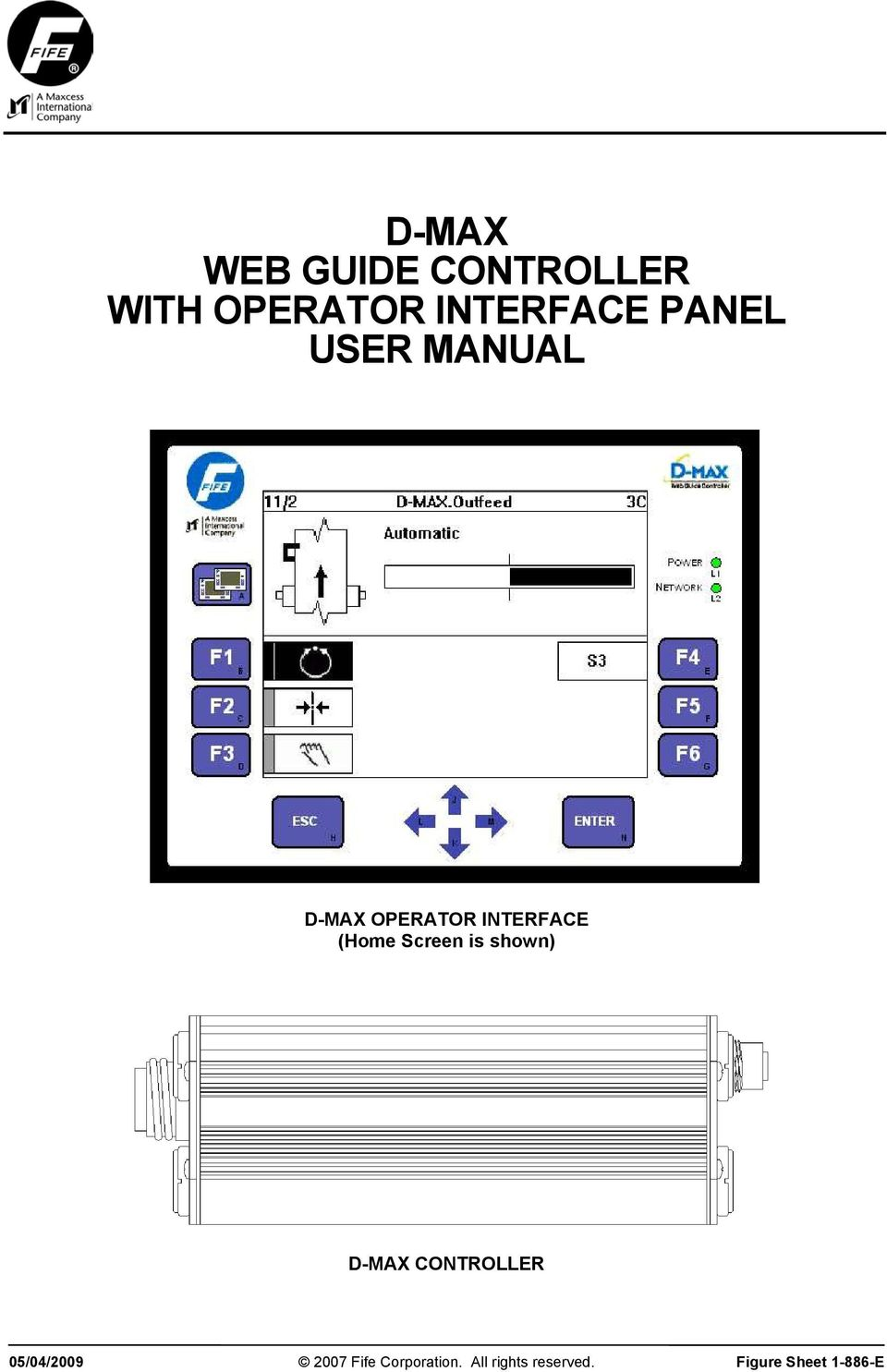Fife csp-01 controller and web guide.