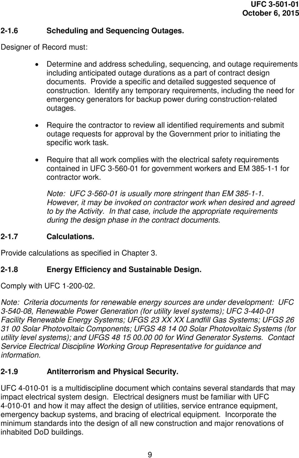 UNIFIED FACILITIES CRITERIA (UFC) ELECTRICAL ENGINEERING - PDF