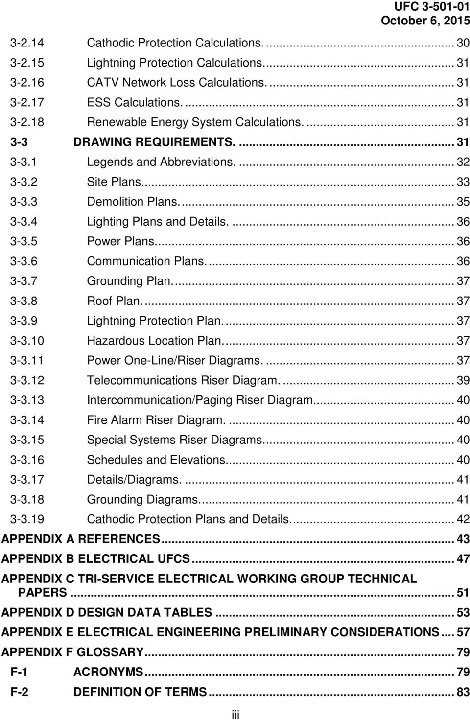 Unified Facilities Criteria Ufc Electrical Engineering Pdf One Line Riser Diagram Volts Design Software 36 3 37 Grounding Plan