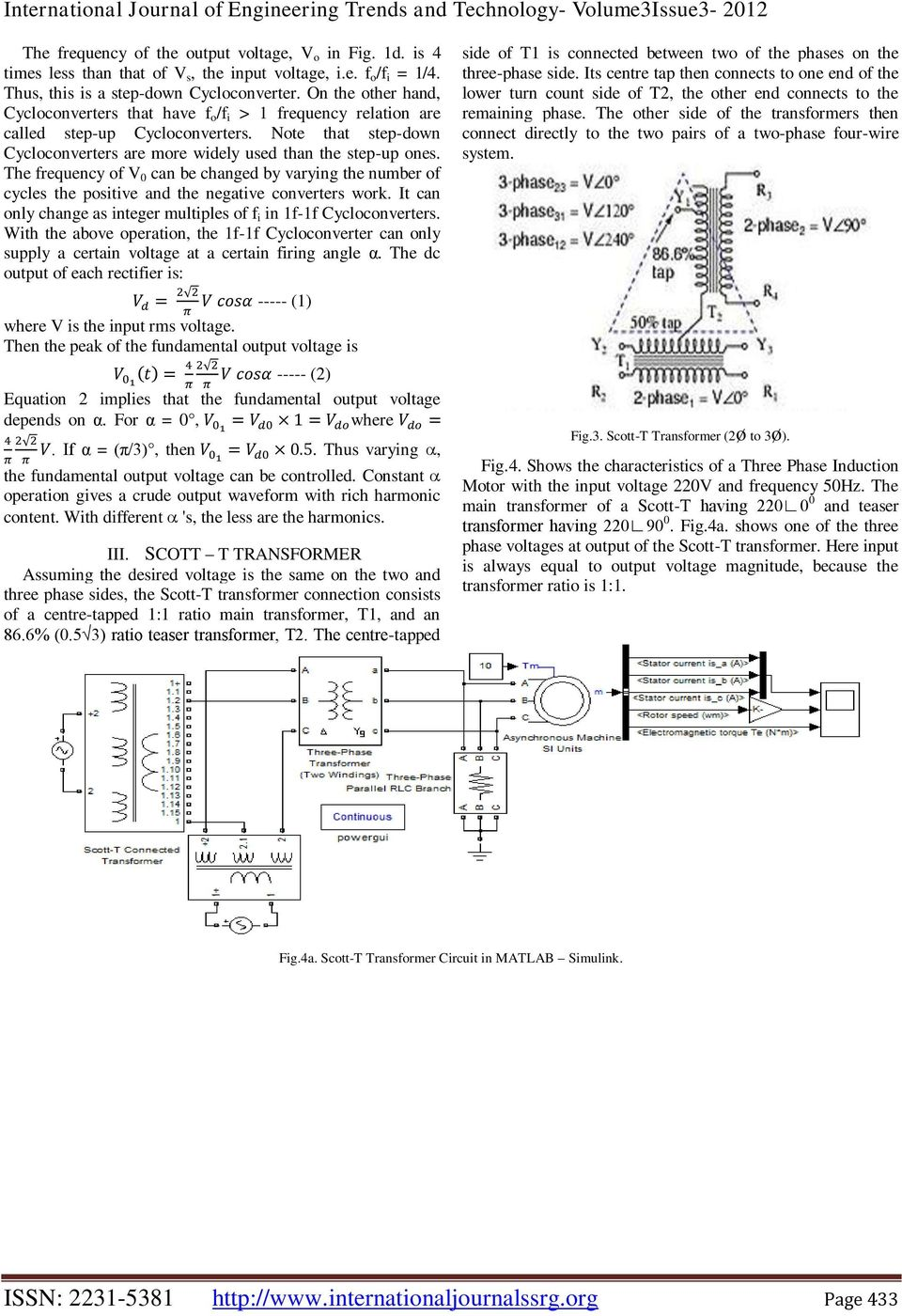Control Of A Three Phase Induction Motor Using Single Supply Pdf Figure 2 Transformercircuit Diagram The Frequency V 0 Can Be Changed By Varying Number Cycles Positive