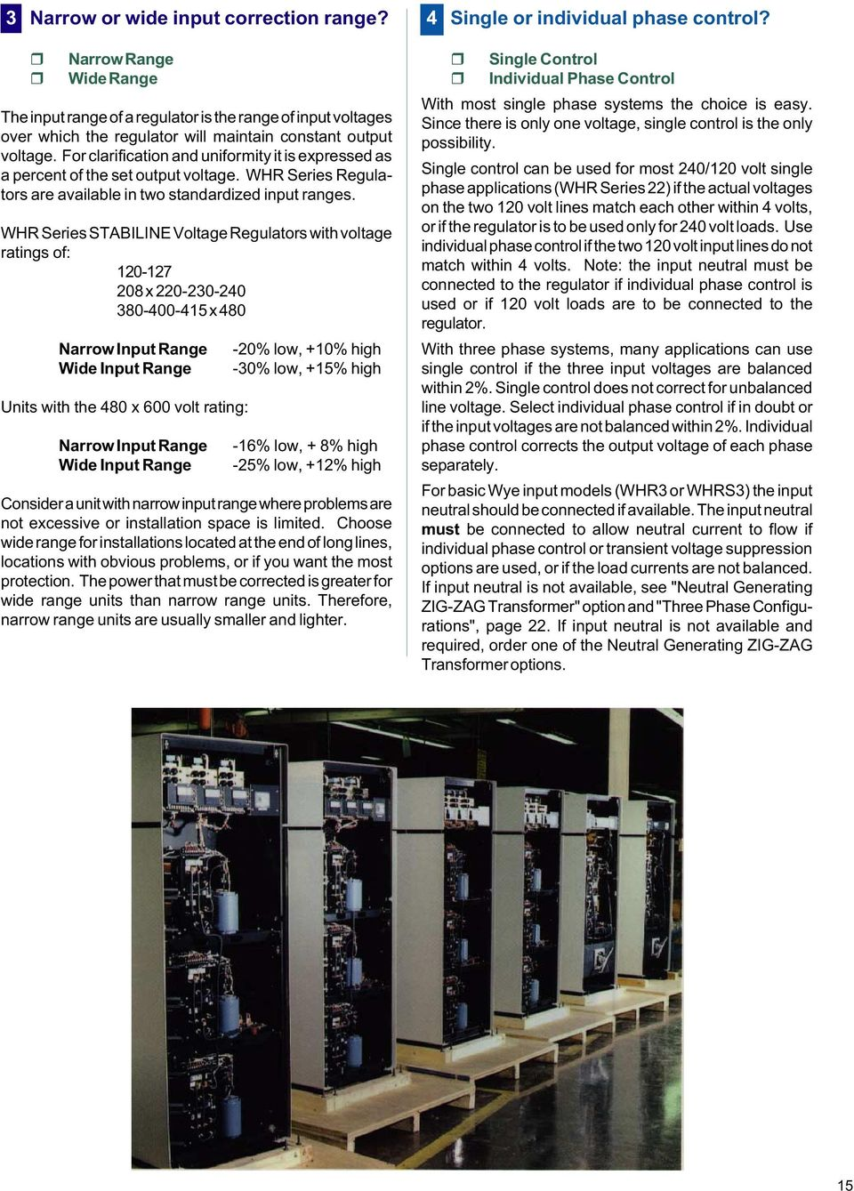Whr Series Stabiline Voltage Regulators Pdf Power Supplies And For Lowvoltages Heaters With Ratings Of 120 127 208 X 220