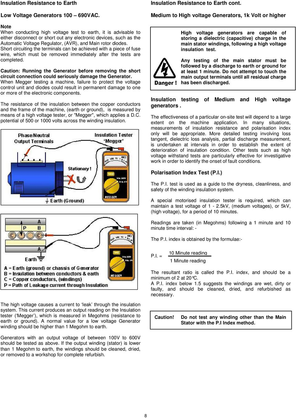 Fault Finding Manual For Stamford Ac Generators Pdf Shortcircuit Generatorshortcircuit Generatorsec Electric Short Circuiting The Terminals Can Be Achieved With A Piece Of Fuse Wire Which Must