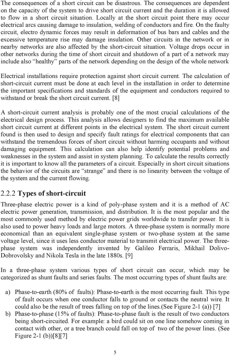 SHORT CIRCUIT CURRENT CALCULATION AND PREVENTION IN HIGH VOLTAGE ...