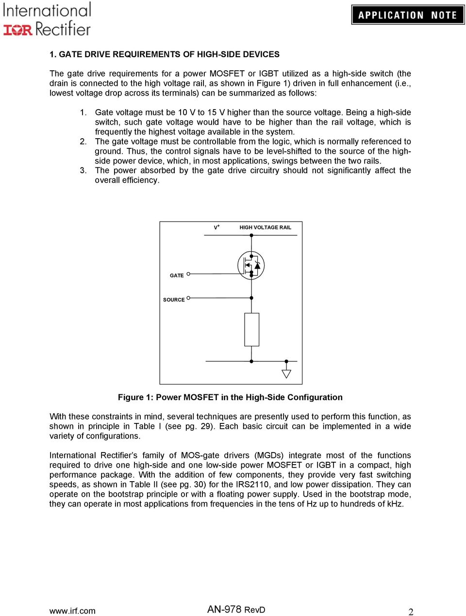 Application Note An Pdf Negative Voltage Reference Circuit 2 Basiccircuit Diagram Being A High Side Switch Such Gate Would Have To Be Higher Than