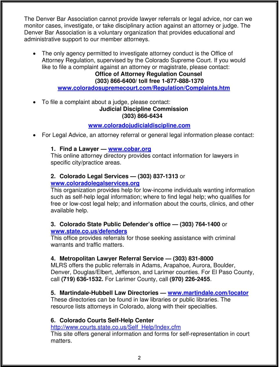 LEGAL RESOURCE DIRECTORY - PDF