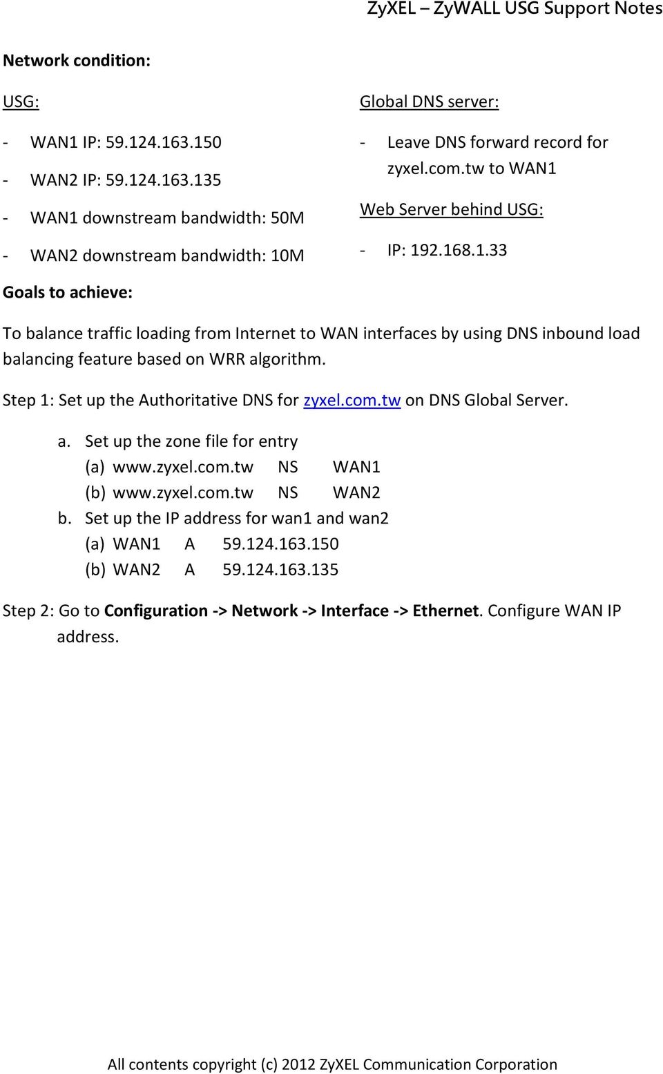 ZyWALL USG ZLD 3 0 Support Notes - PDF
