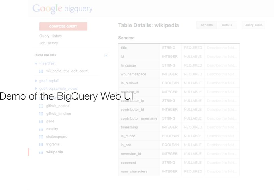 Querying Massive Data Sets in the Cloud with Google BigQuery and