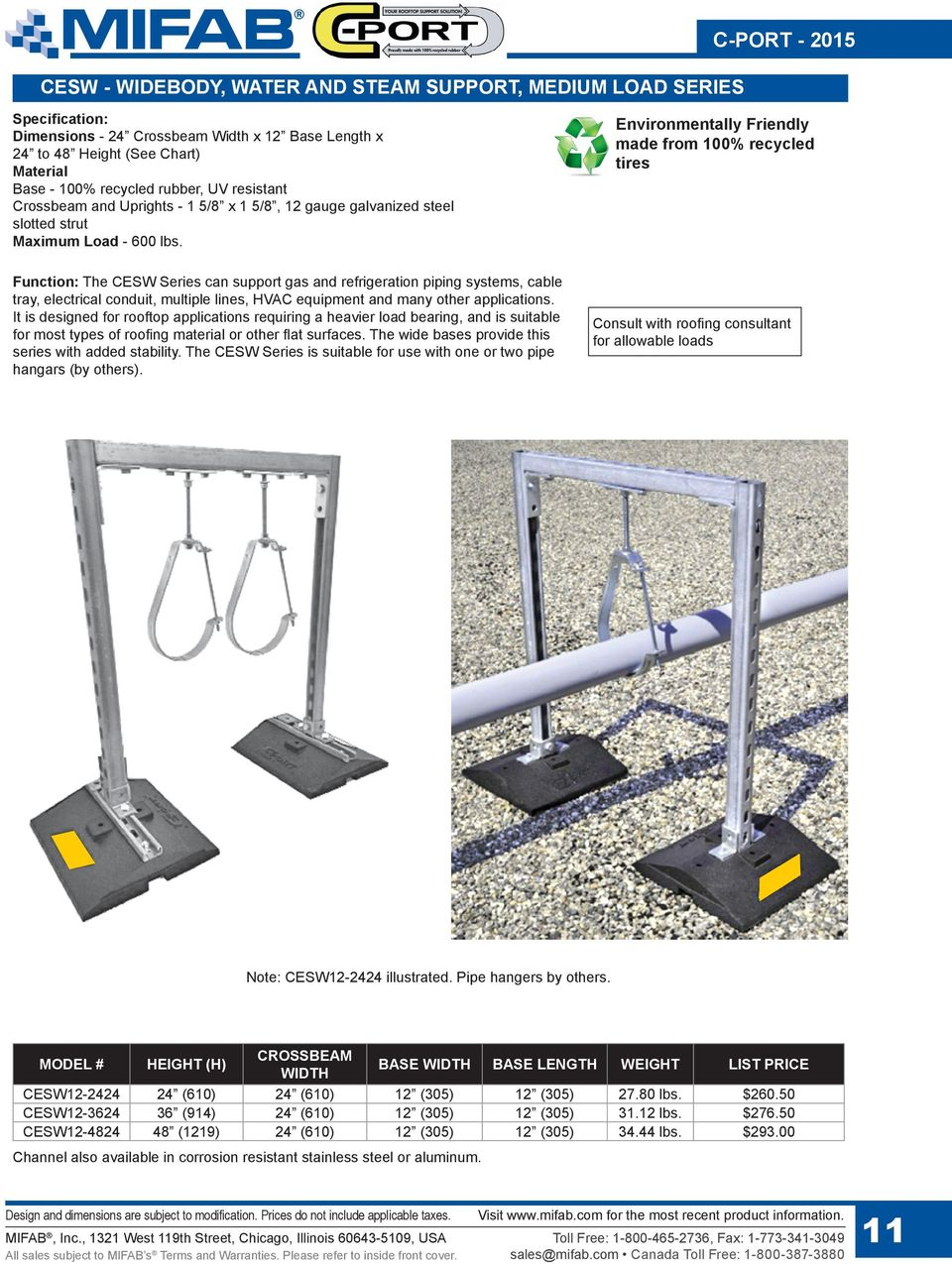 C Port Rubber Supports List Price Guide Lit Pdf 2014 Gmc Sierra Wiring Diagram Underfloor Board Function The Cesw Series Can Support Gas And Refrigeration Piping Systems Cable Tray