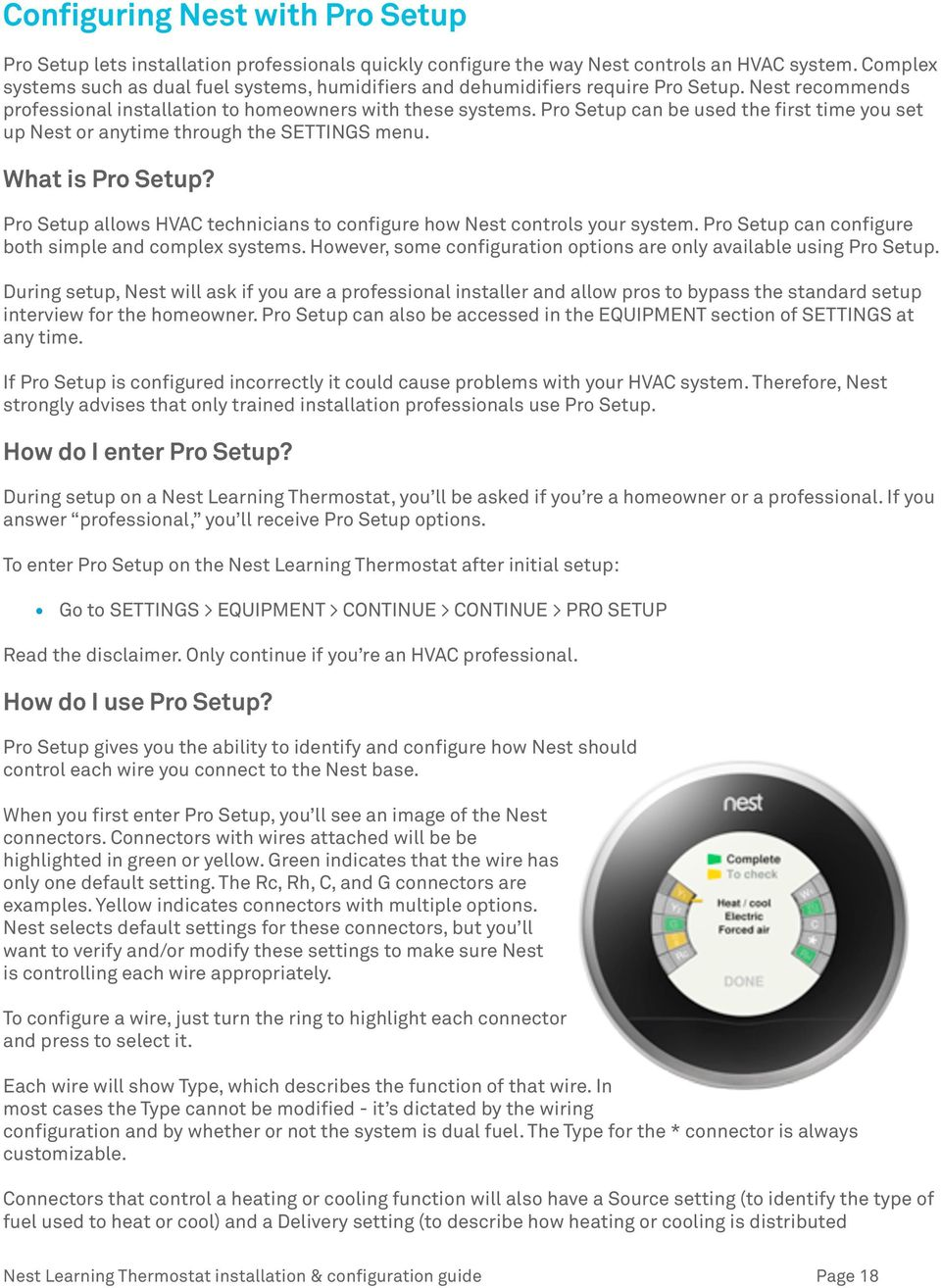 Nest Learning Thermostat Pro Installation Configuration Guide Pdf Wiring Your Setup Can Be Used The First Time You Set Up Or Anytime Through