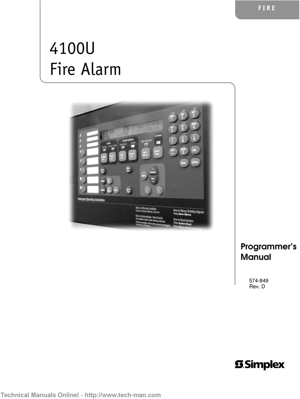 Tech Manuals Online Block Diagram Okifax50505300 Array Fire 4100u Alarm Programmer S Operator U0027s Manual Rev D Rh Docplayer Net
