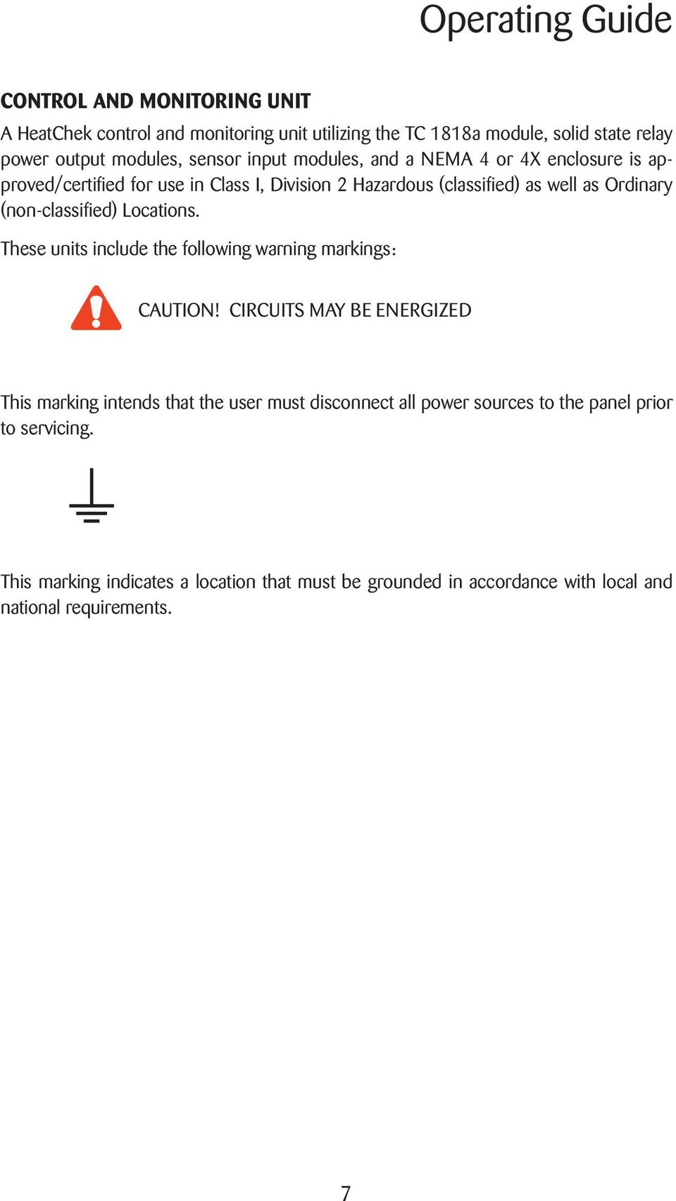 Thermon Tc 1818a Wiring Diagram Library Non Classifi Ed Locations These Units Include The Following Warning Markings