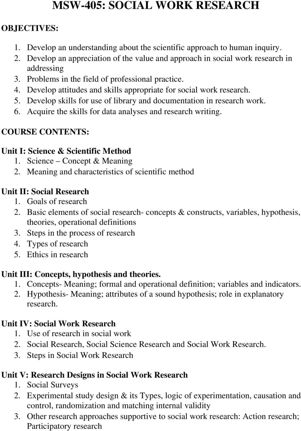 meaning of social science research