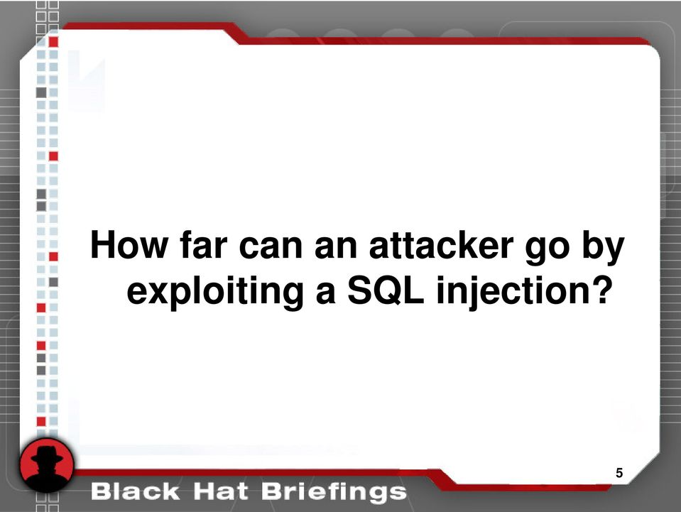 Advanced SQL injection to operating system full control - PDF