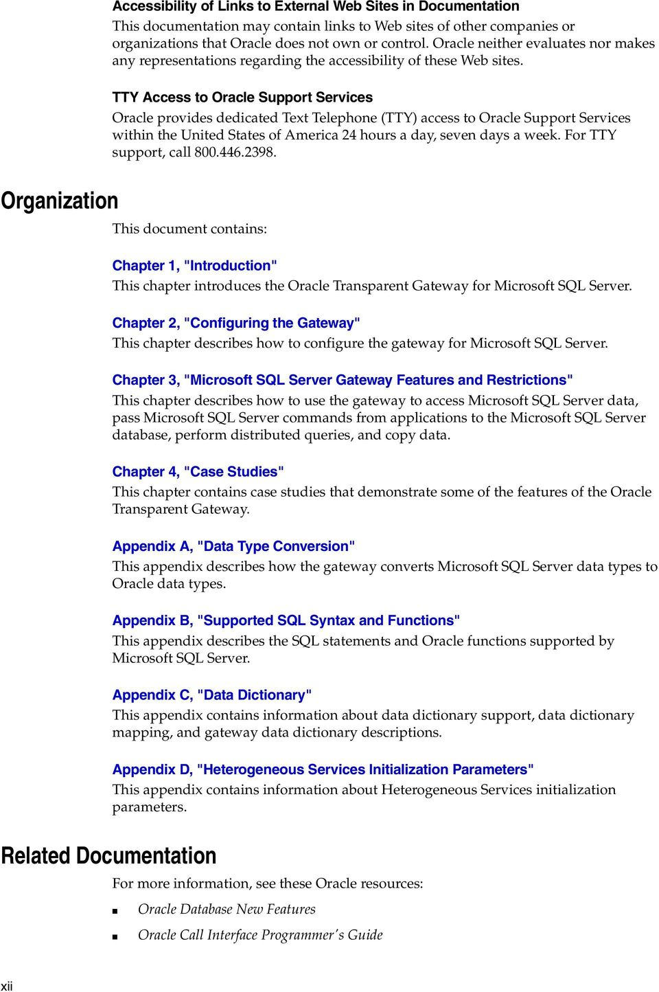 Oracle Transparent Gateway for Microsoft SQL Server - PDF