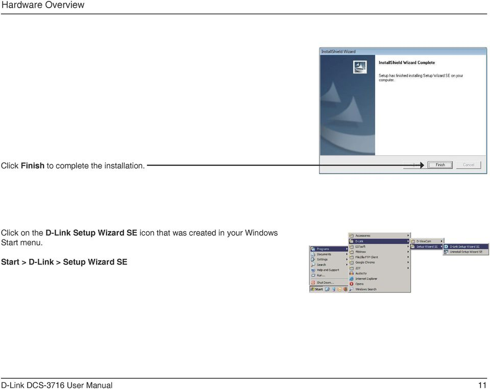 Click on the D-Link Setup Wizard SE icon that