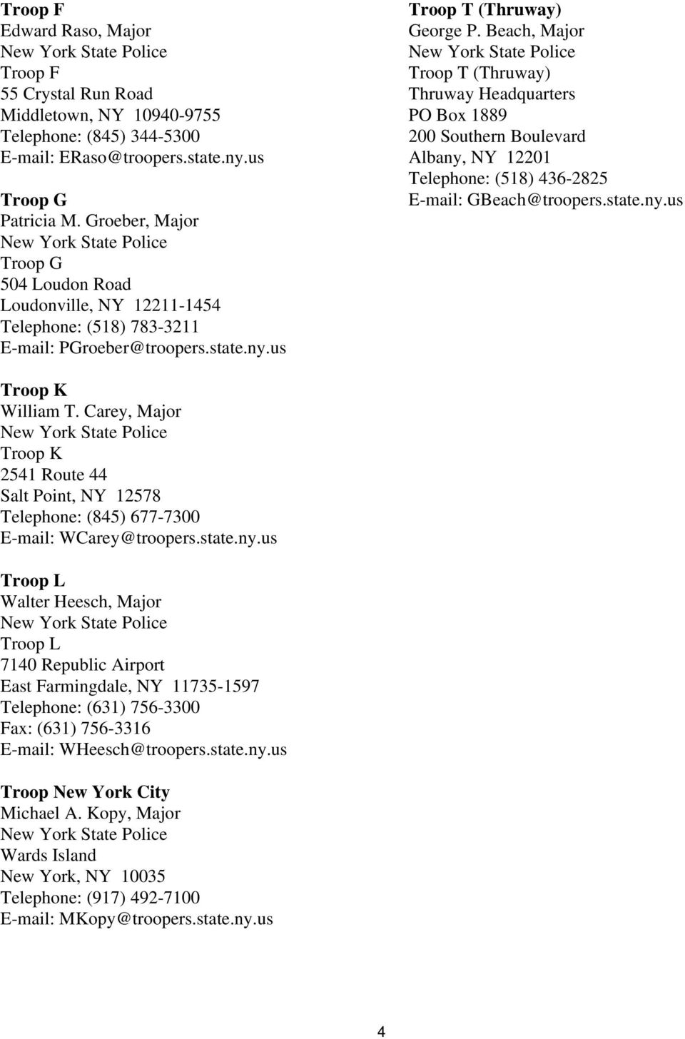 DIRECTORY of New York State Criminal Justice Agencies - PDF