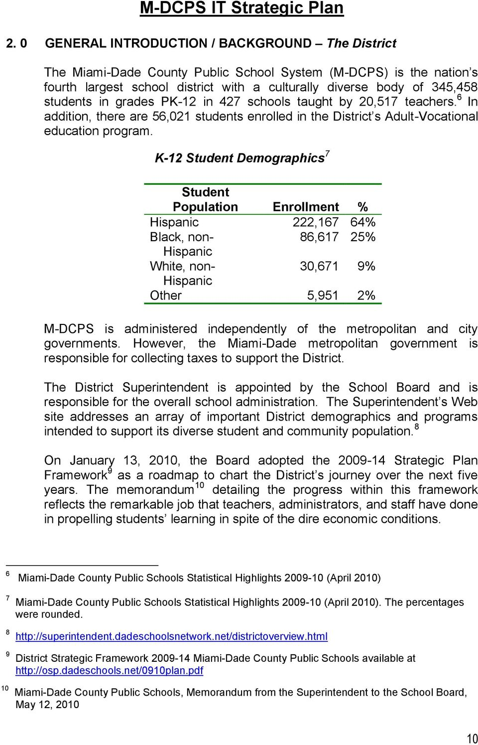 K-12 Student Demographics 7 Student Population Enrollment % Hispanic 222,167 64% Black, non- 86,617 25% Hispanic White, non- 30,671 9% Hispanic Other 5,951 2% M-DCPS is administered independently of