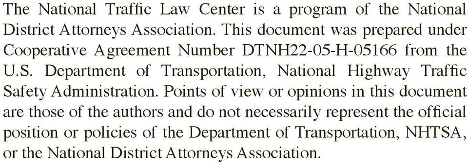 Department of Transportation, National Highway Traffic Safety Administration.