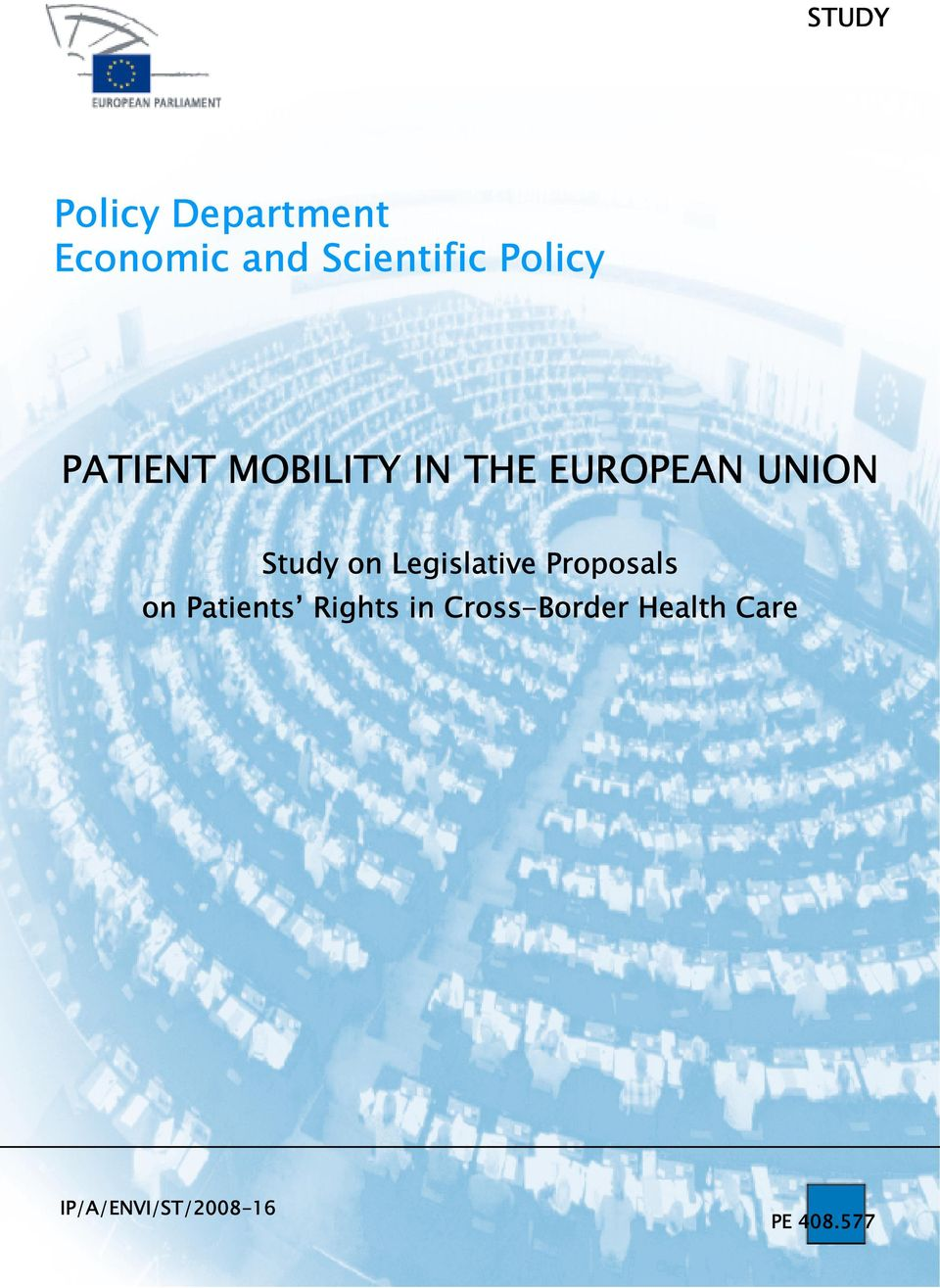 on Legislative Proposals on Patients Rights in