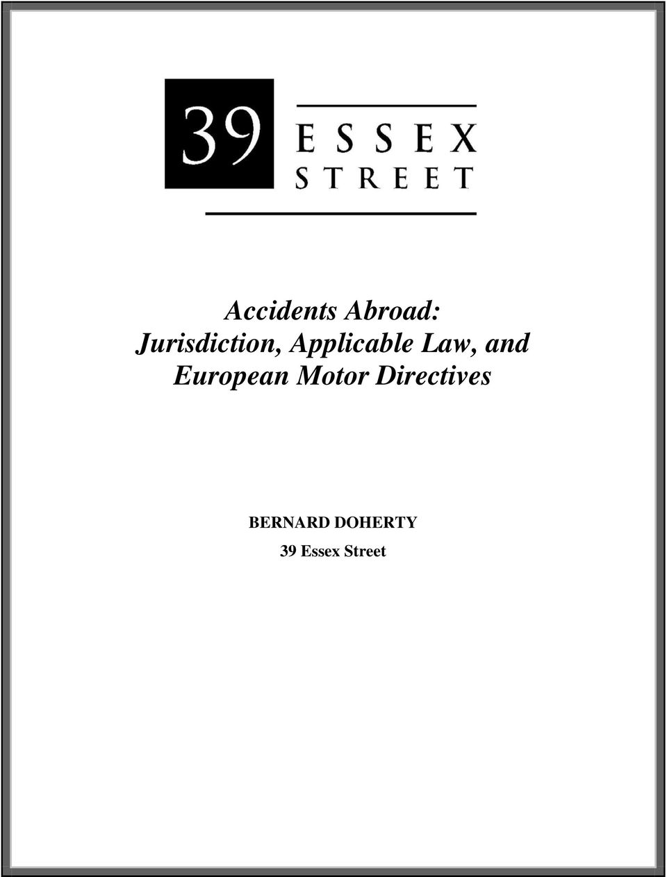Law, and European Motor