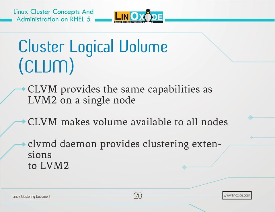 CLVM makes volume available to all nodes clvmd