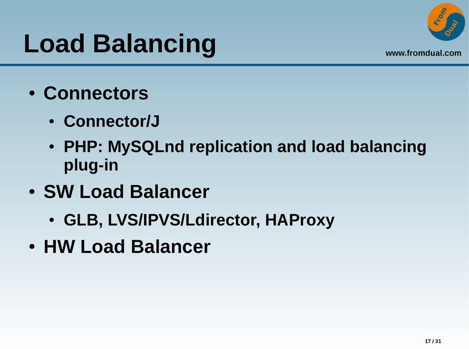 balancing plug-in SW Load Balancer GLB,