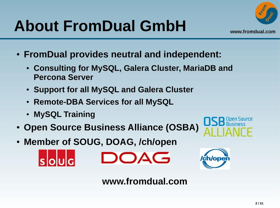 for all MySQL and Galera Cluster Remote-DBA Services for all MySQL MySQL