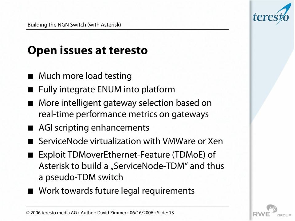 ServiceNode virtualization with VMWare or Xen!
