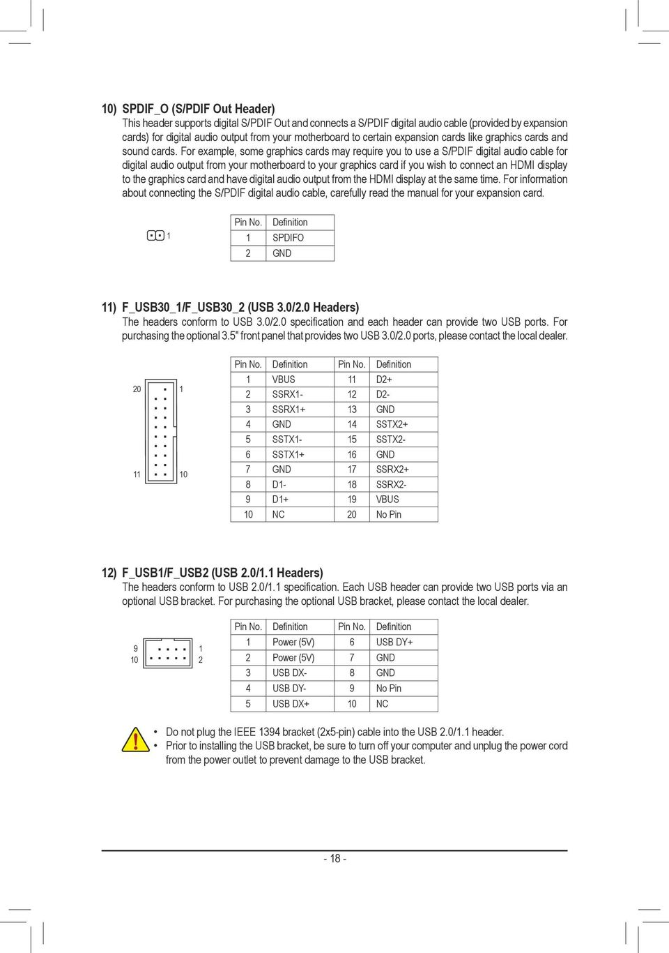 Ga Z170 Hd3 Ddr3 Pdf 2x5 1394 6 Pin Wiring Diagram For Example Some Graphics Cards May Require You To Use A S Pdif Digital