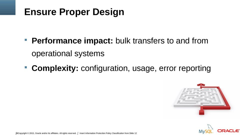 Complexity: configuration, usage, error reporting