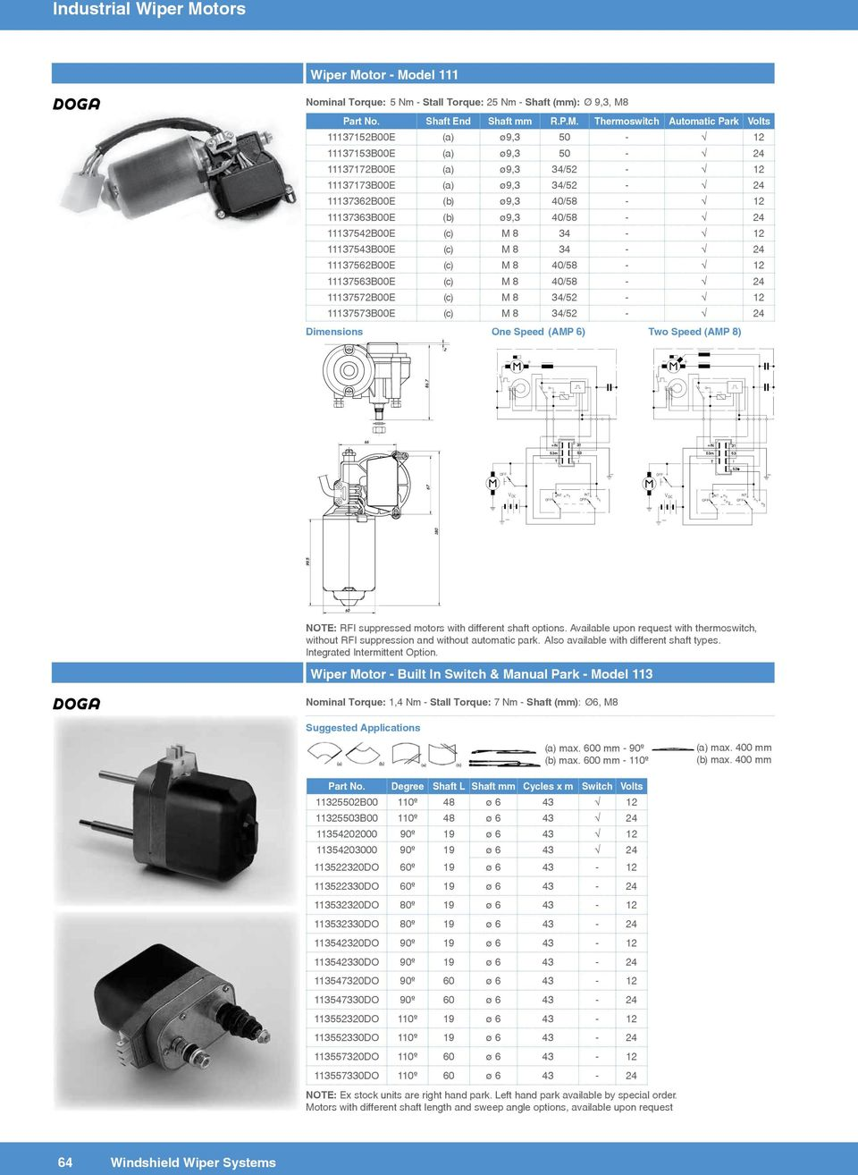 Industrial Wiper Motors A Variety Of For Dse Motor Wiring Diagram Tor Mo