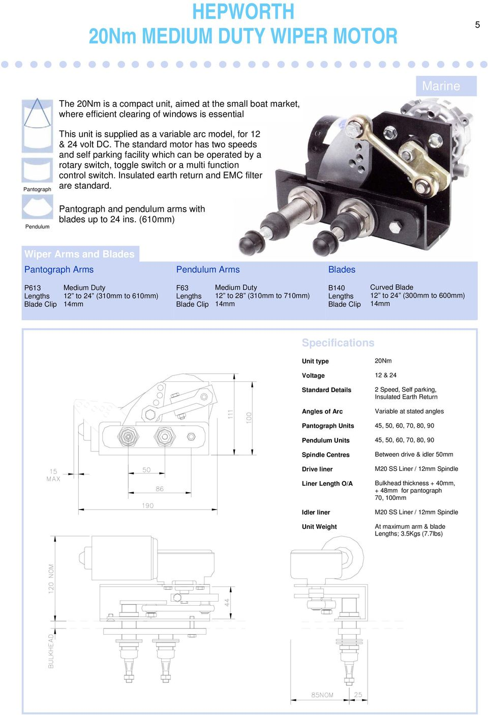 Windscreen Wiper Catalogue Pdf Wiring Of 12 Volt 2speed Steeringcolumnmounted Switch Insulated Earth Return And Emc Filter Are Standard Pantograph Pendulum Arms With Blades Up