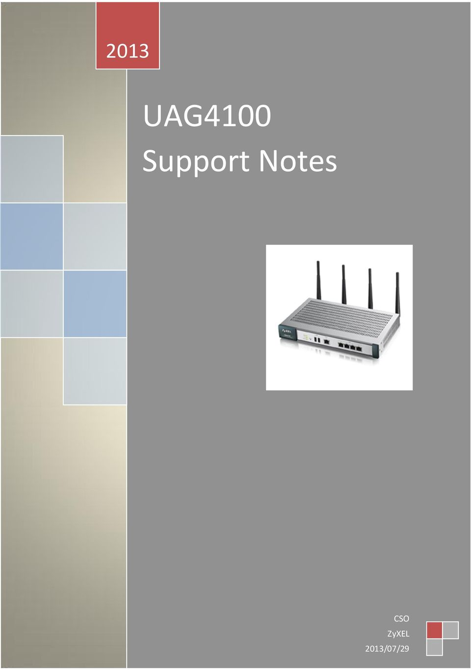 UAG4100 Support Notes - PDF